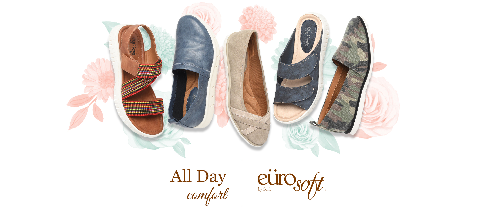 All day comfort. Eurosoft by Sofft. Shop All Styles